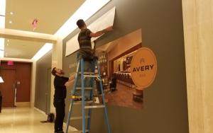 Signage installation Ritz Carlton Avery bar